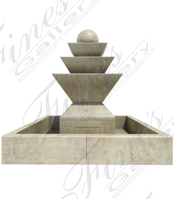 Polished Travertine Fountain