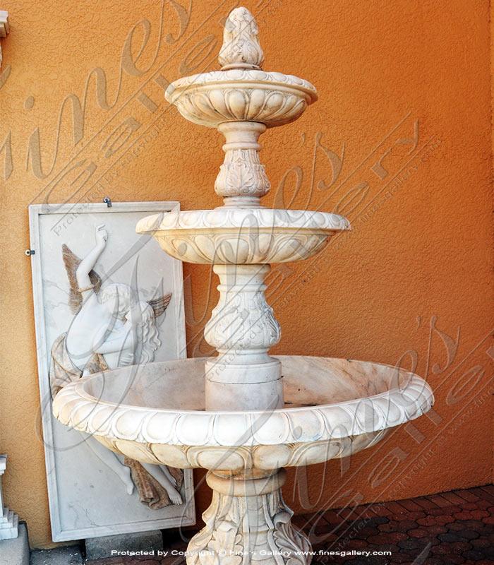 Tiered Roman Marble Fountain