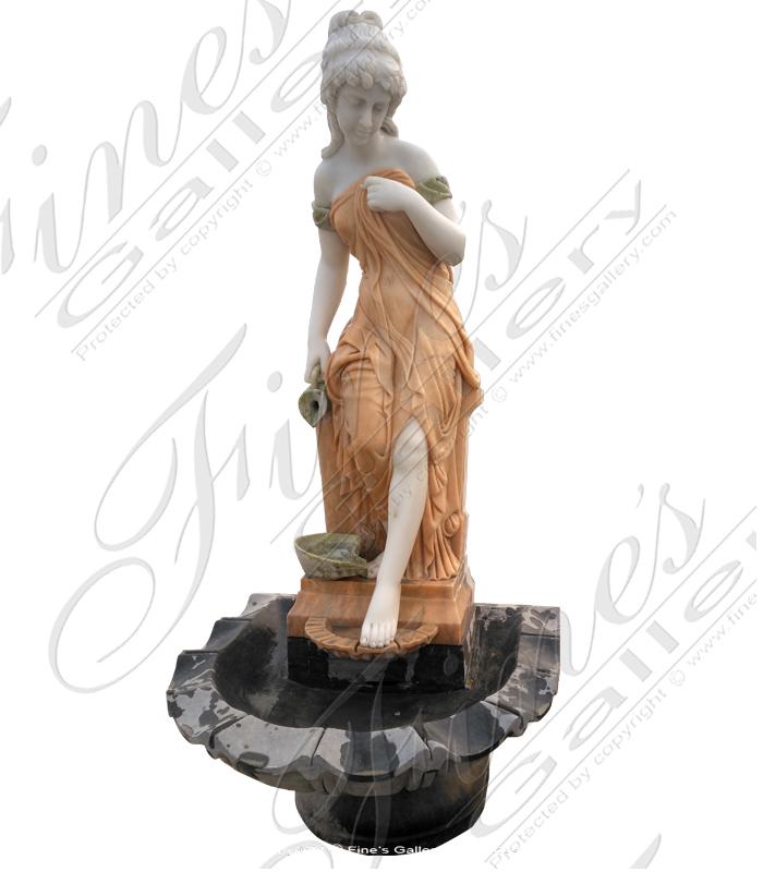 Roman Girl Fountain in Marble