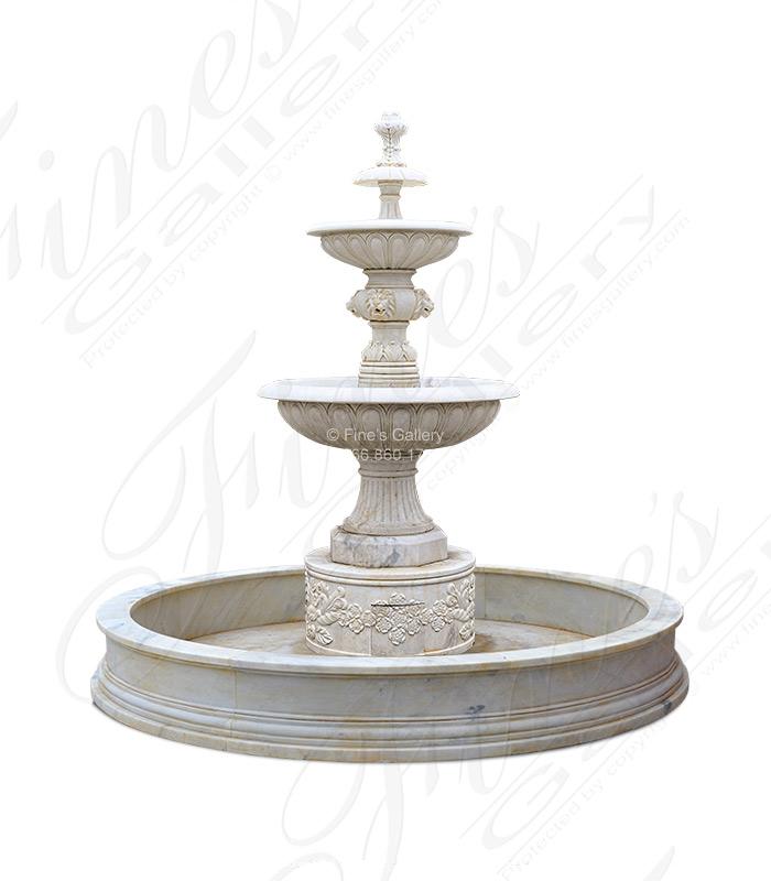 Antique White Italian Villa Style Fountain