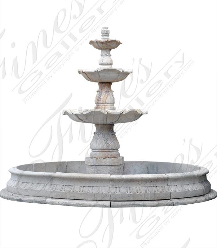Rustic Marble Garden Fountain