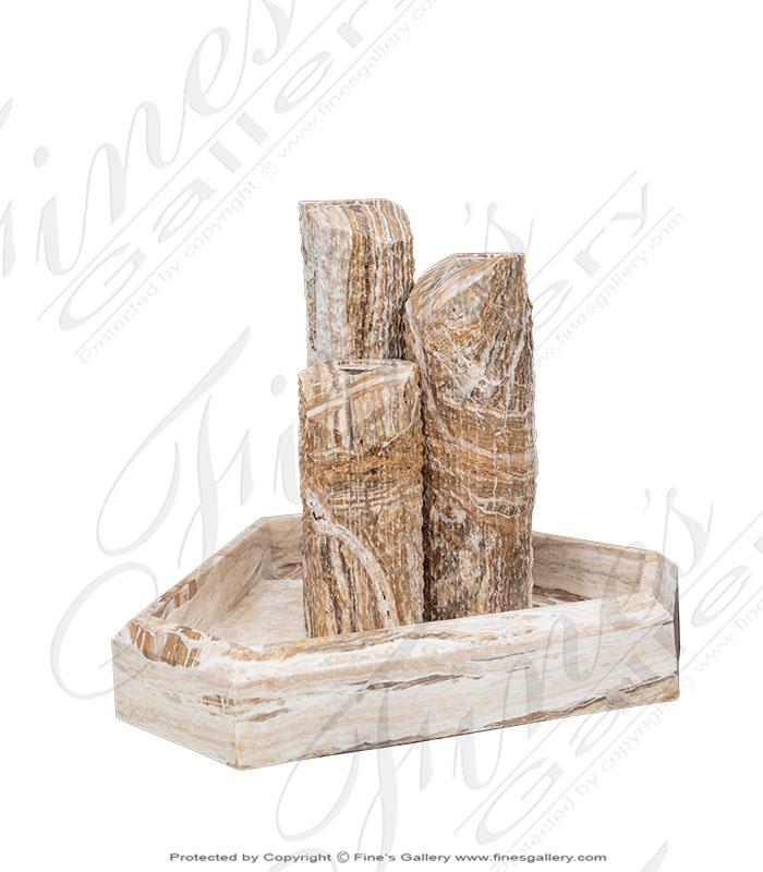 Marble Fountains  - Tra Onyx Pillar Fountain - MF-1730