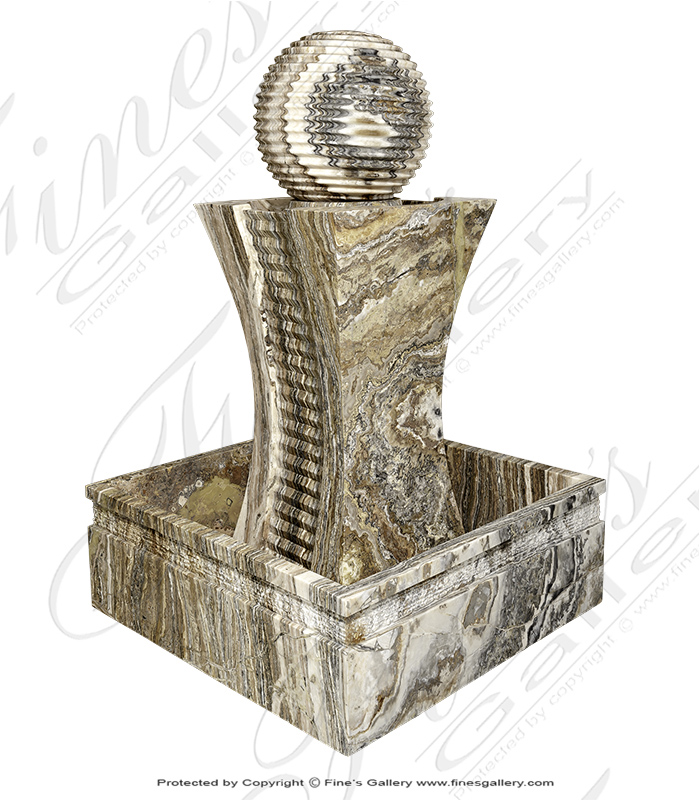 Marble Fountains  - Tra Onyx Sphere Fountain - MF-1731