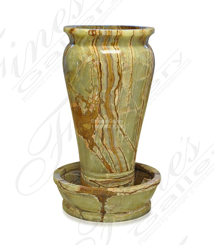 Green Onyx Urn Fountain