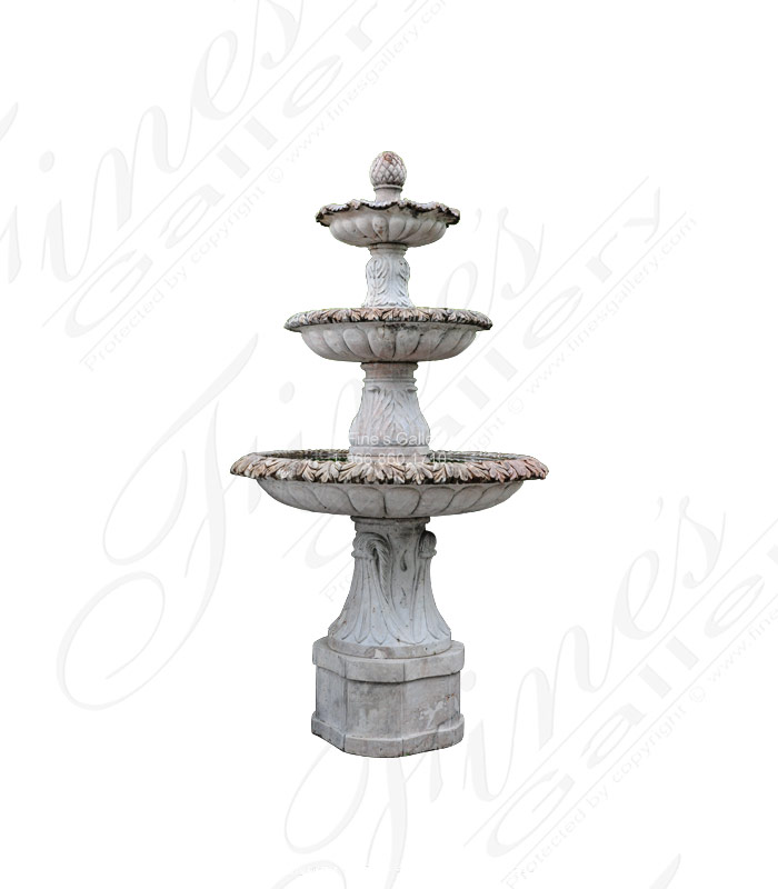 Accanthus marble fountain