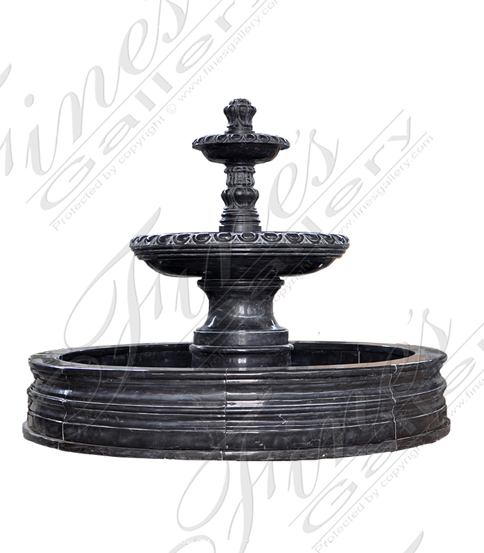 Rustic Black Granite Fountain