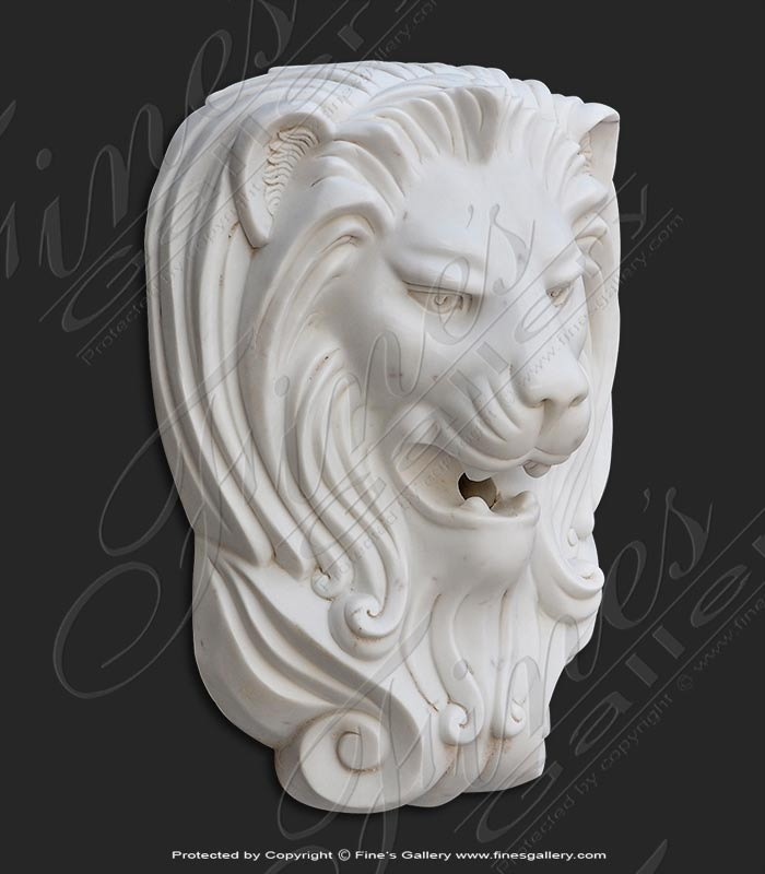 Marble Lion Head Fountain