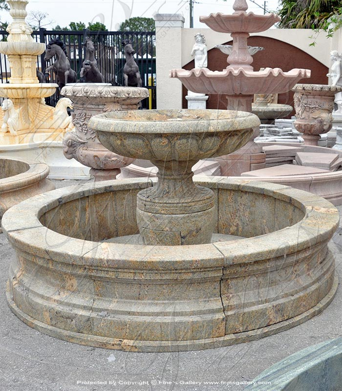 Earth Toned Granite Fountain
