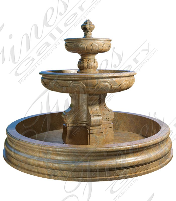 French Garden Fountain in Granite