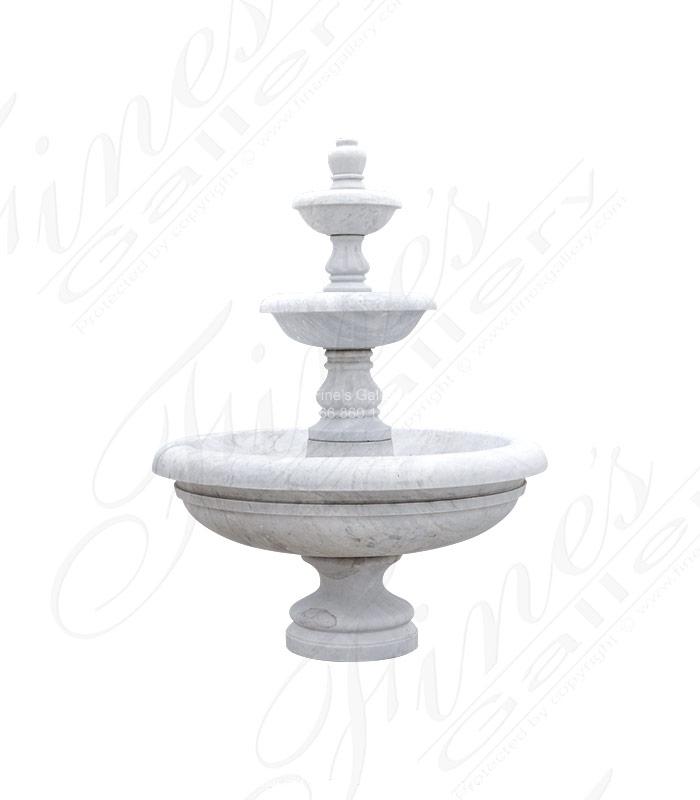 Simplistic White Marble Fountain