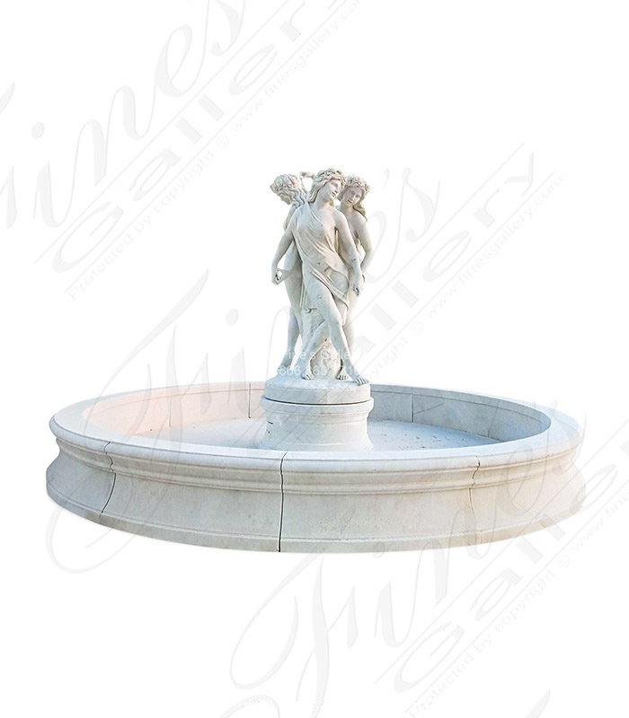 Graceful Beauties Marble Fountain