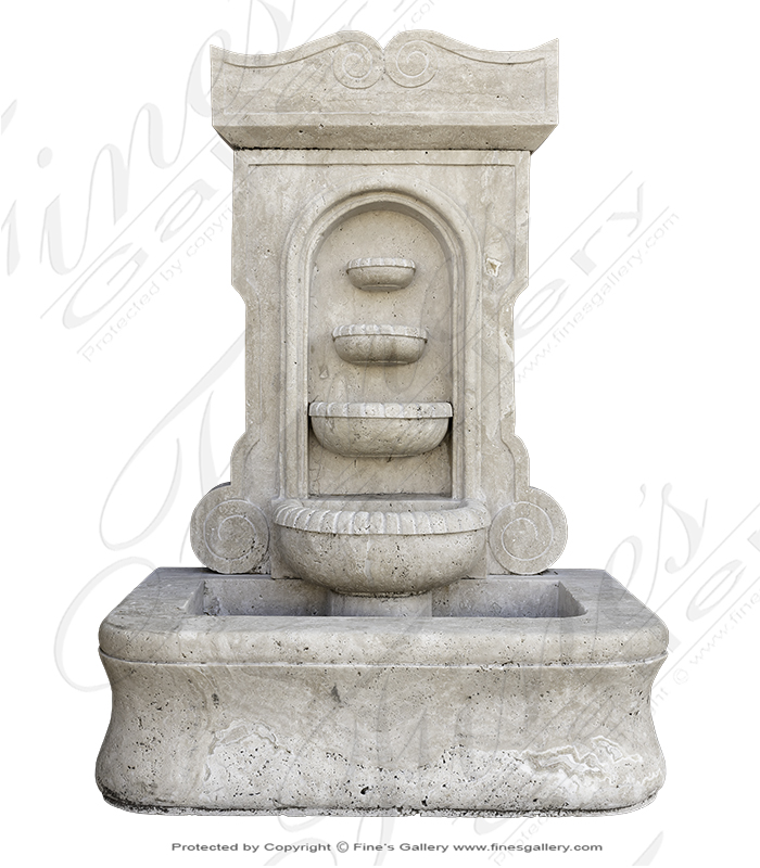Old World Four Tiered Wall Fountain