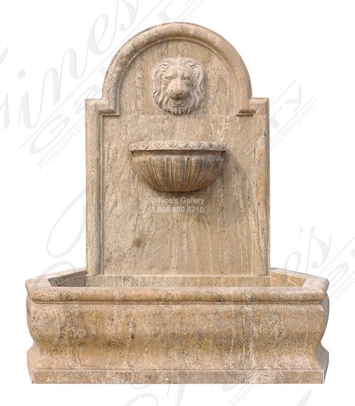 Golden Granite Lion Head Wall