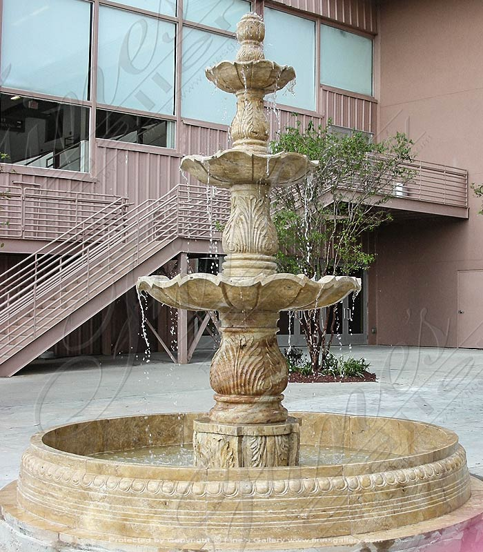 A Large Commercial Tiered Fountain in Travertine Marble