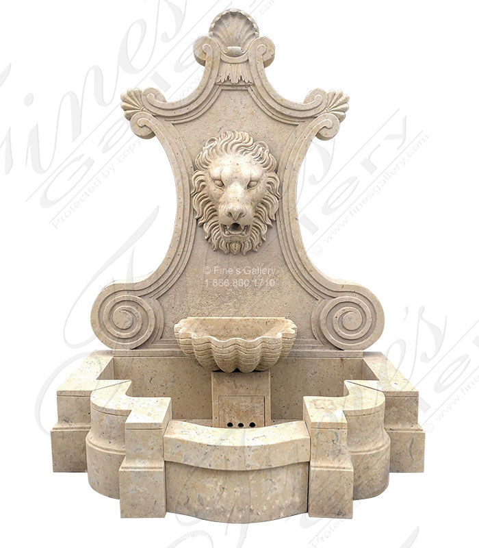 Aged Finish natural stone wall fountain