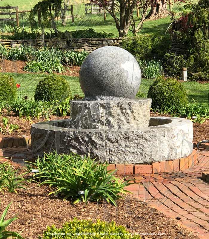 Marble Fountains  - Granite Sphere Fountain - MF-1819