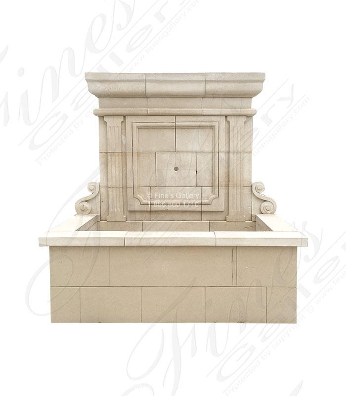 Marble Fountains  - Italian Limestone Wall Fountain - MF-1830