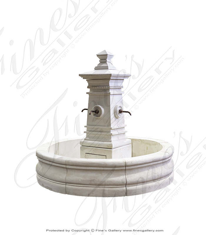 Old World Fountain in Limestone