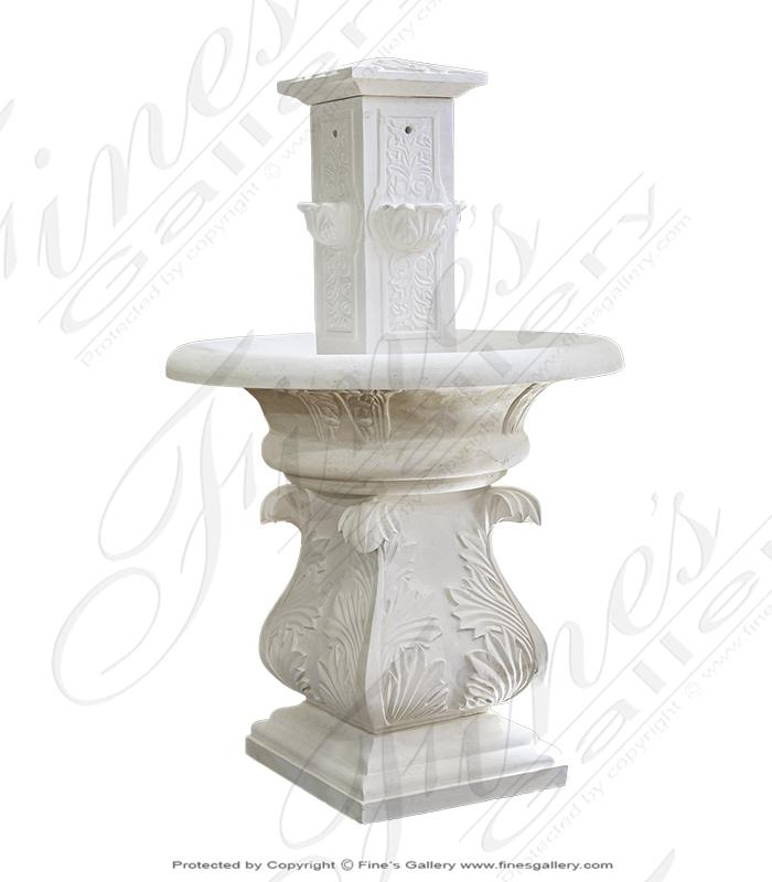 Classic Limestone Garden Fountain
