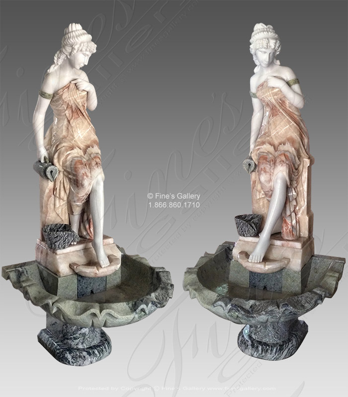 Victorian Lady Marble Fountain V