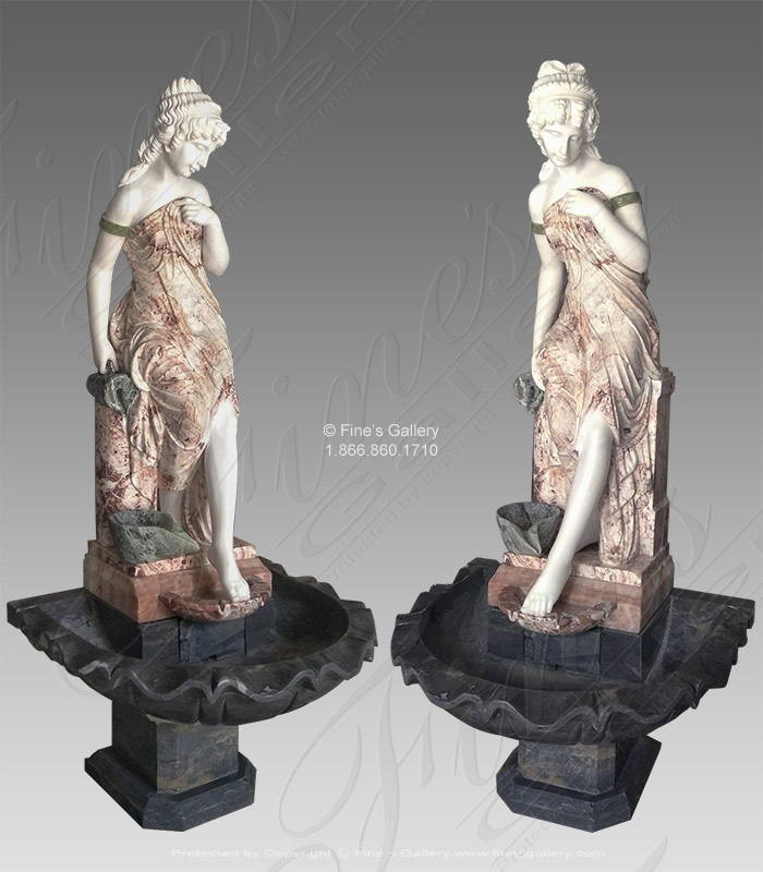 Victorian Lady Marble Fountain IV