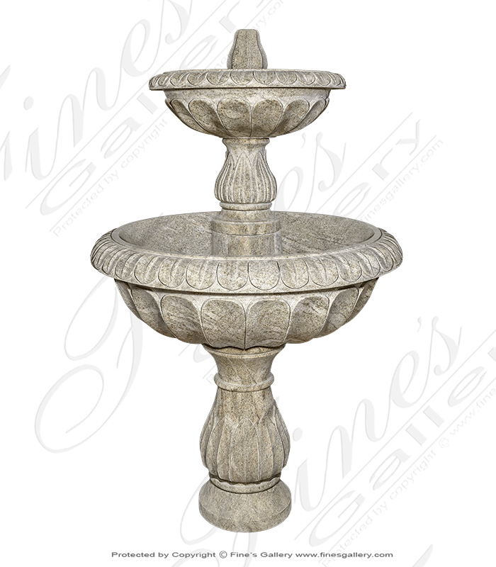 Two Tiered Self Contained Granite Fountain