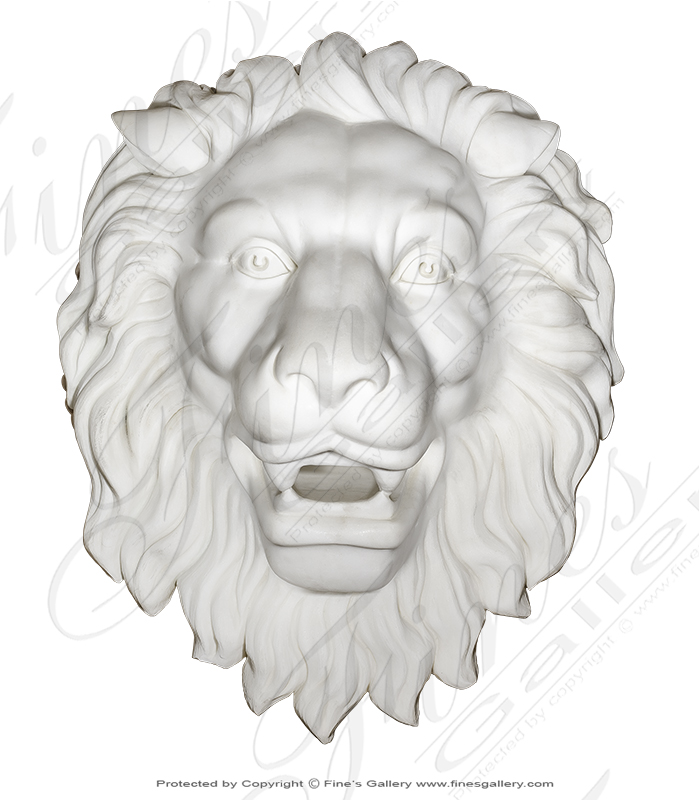 Marble Lion Head Wall Mount
