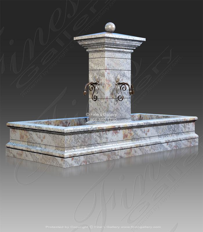 Marble Fountains  - Rectangular Old World Fountain - MF-1895