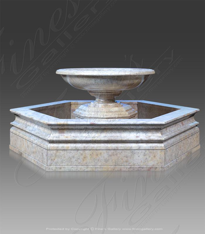 Hexagon Shaped Granite Garden Fountain