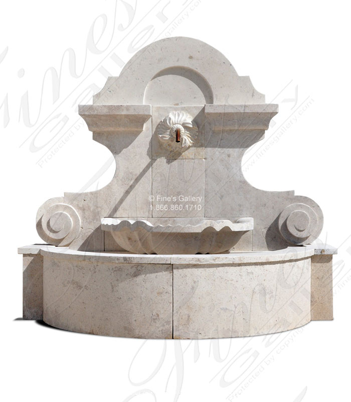 Old World Travertine Wall Fountain