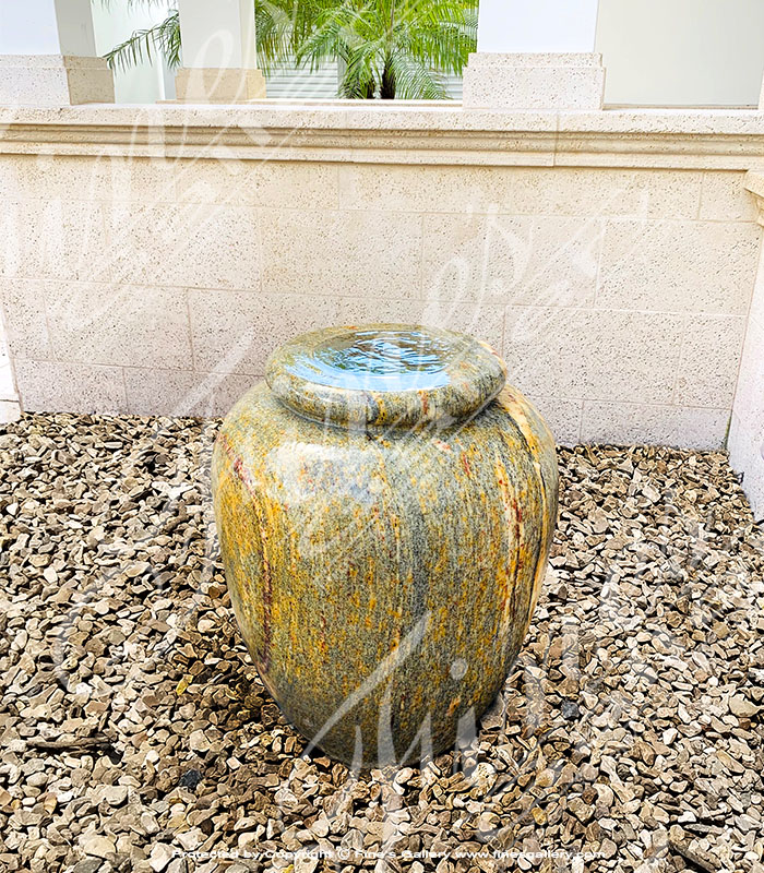Clean Granite Urn Fountain Installation