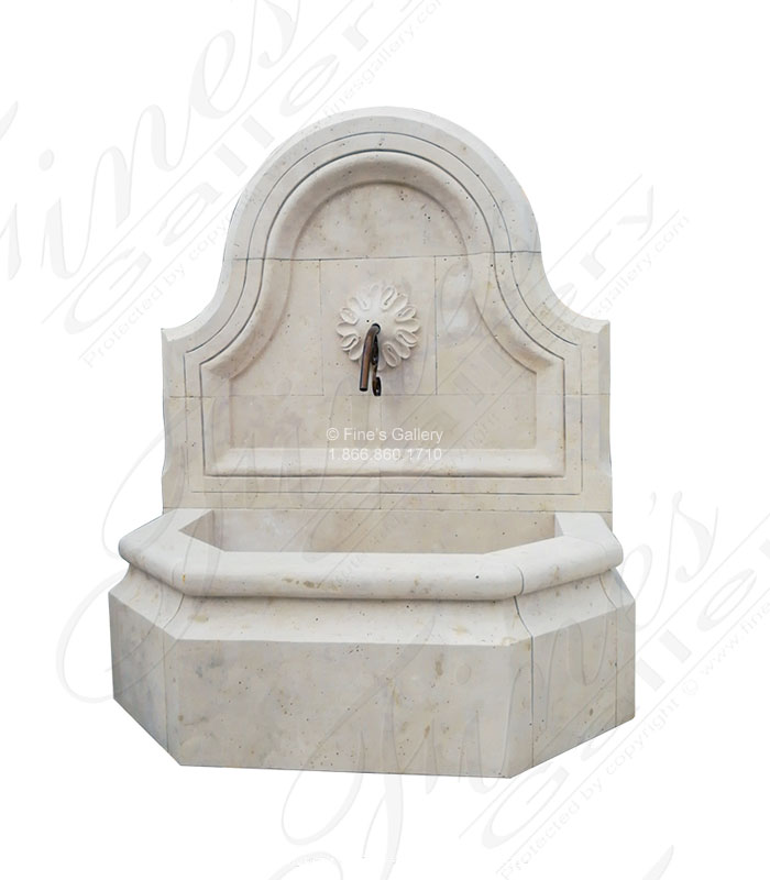 Roman Travertine Wall Fountain Feature