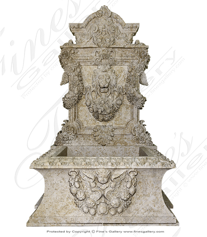Ornate Italian Renaissance Wall Fountain