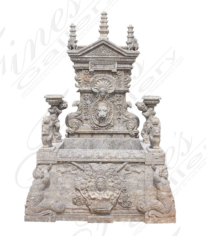 Antique Griggio Marble Fountain