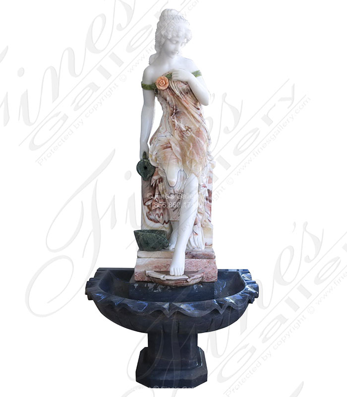 Victorian Lady Marble Fountain III