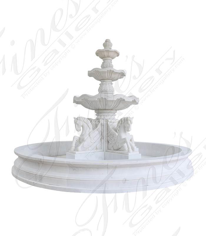 Marble Fountains  - Pegasus Marble Fountain - MF-2029