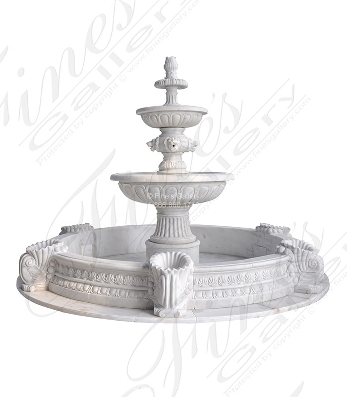 Tiered Versailles Marble Fountain