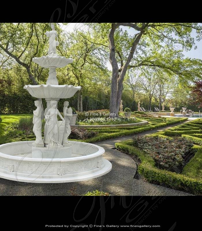 NJ Castle Four Seasons Marble Fountain