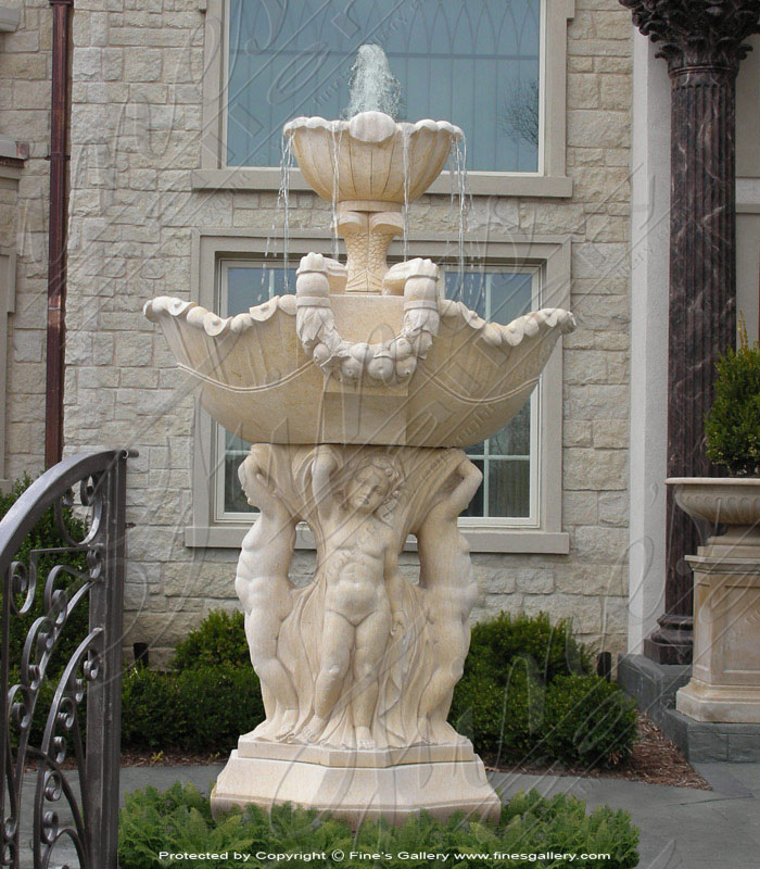 Marble Fountains  - Marble Children Of Rome Fountain - MF-384