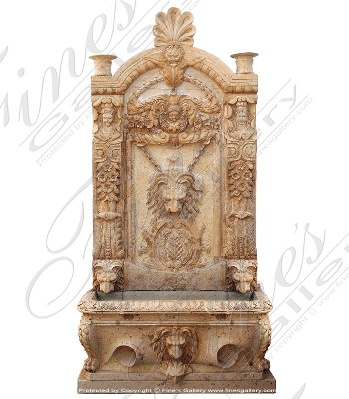 Large Lion Head Wall Fountain   MF 416