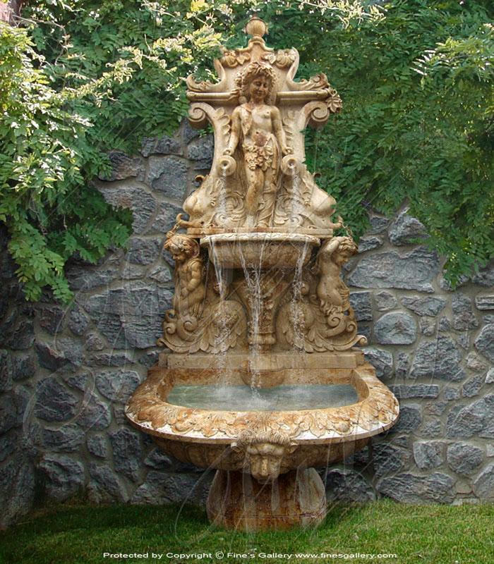Italian Villa Travertine Wall Fountain