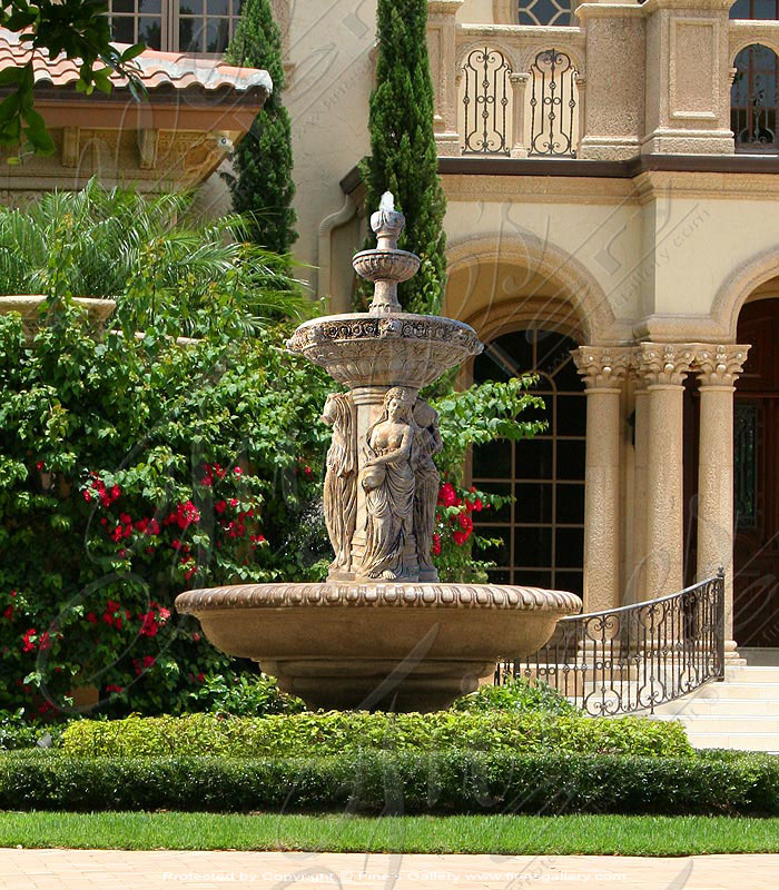 Marble Fountains  - Four Seasons Marble Fountain - MF-1342