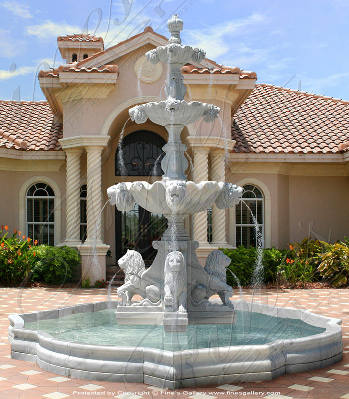 Lion Head Marble Fountains