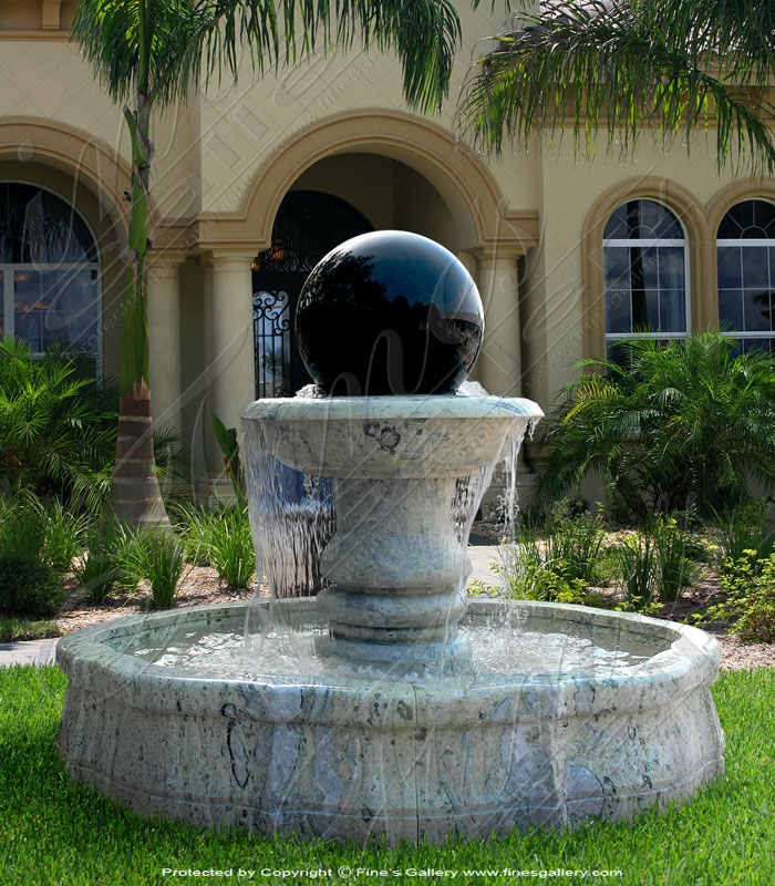 Two Toned Sphere Fountain