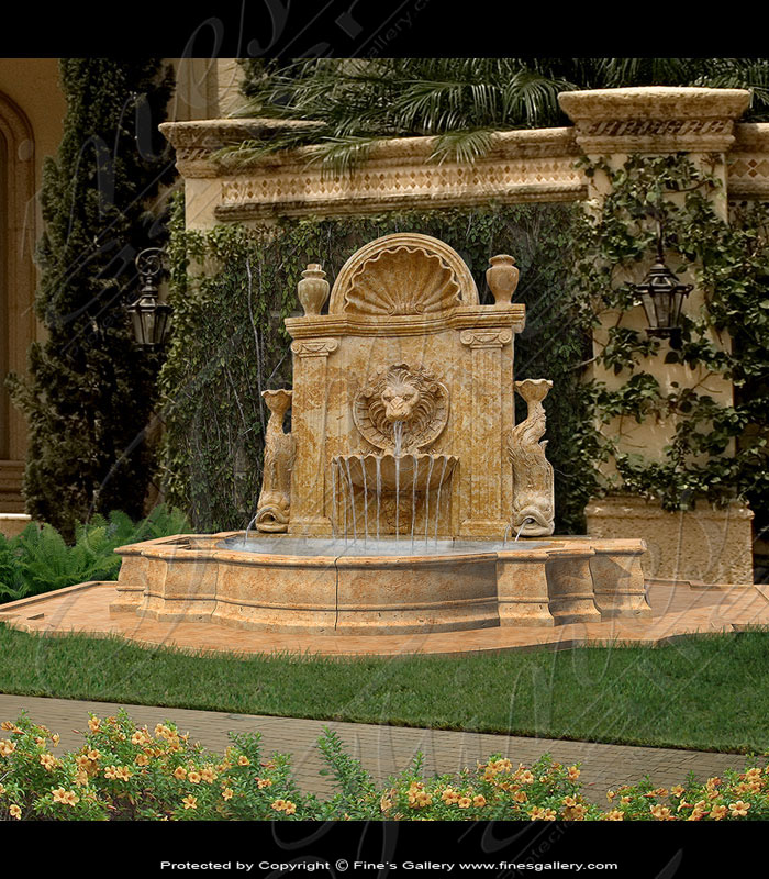 Marble Fountains  - Marble Wall Fountain - MF-364