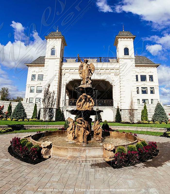 Monumental Grecian Marble Fountain