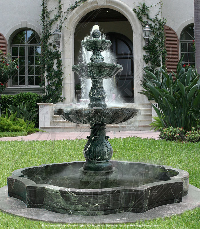 Tiered style Marble fountains