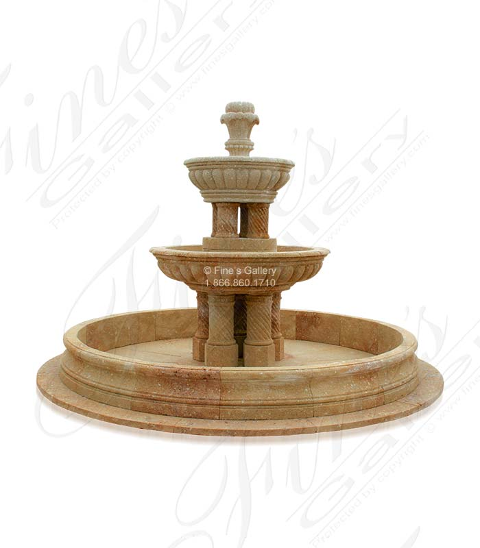 Marble Fountains  - Sicilian Limestone Fountain - MF-764
