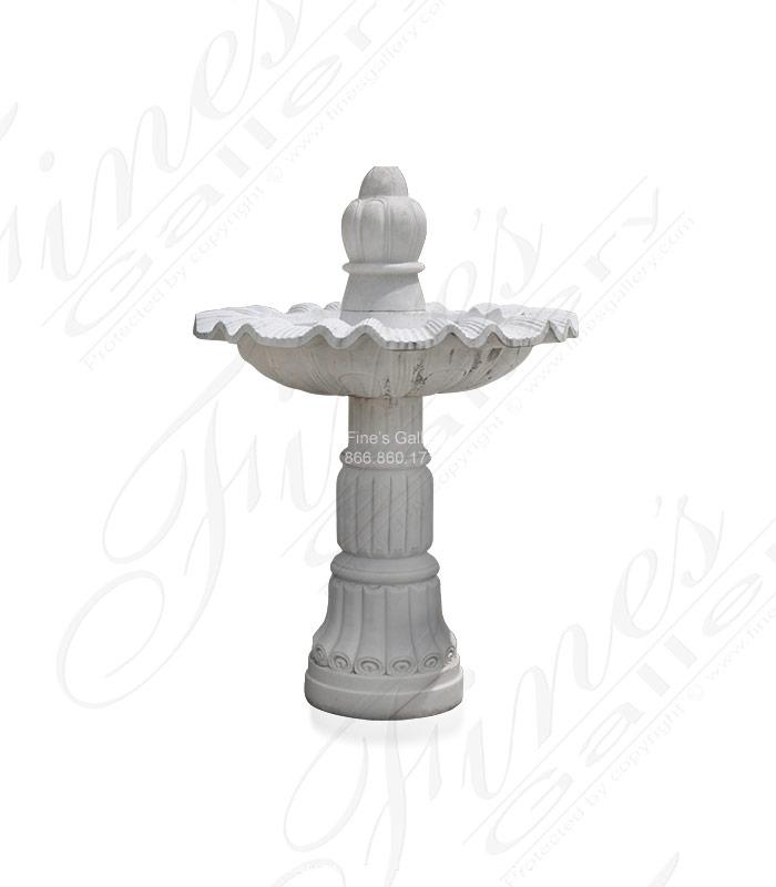 White Marble Pedestal Fountain