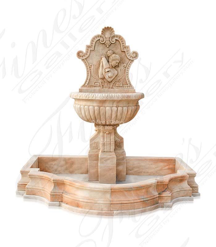 Marble Fountains  - Grecian Maiden Wall Fountain - MF-871